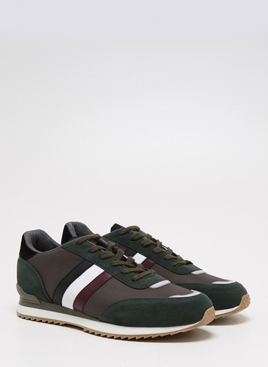 F By Fabrika Erkek Siyah Sneakers DANTE Haki